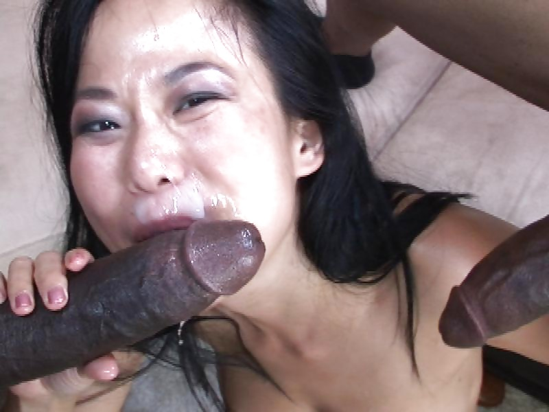 Chunky asian sucking black cock — photo 14