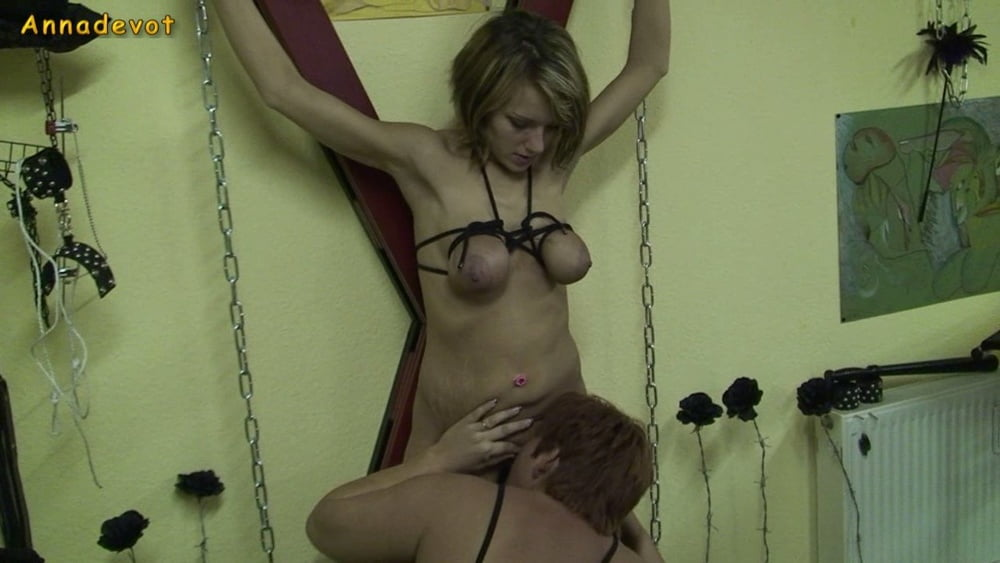 Big boob young SLAVE used on the cross - 15 Pics