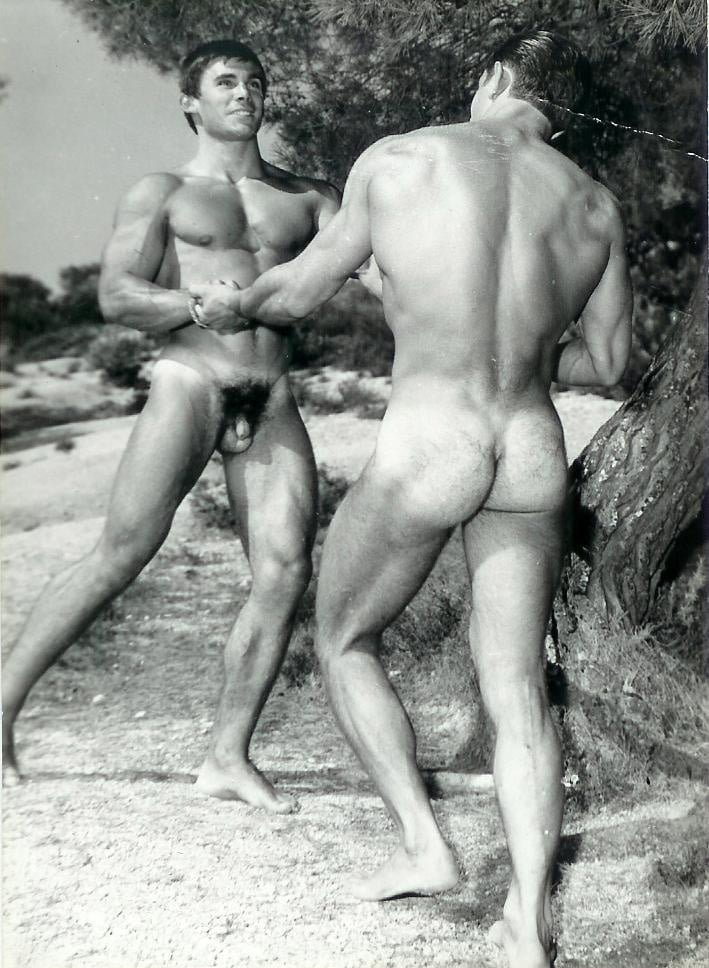 Classic nude vintage male