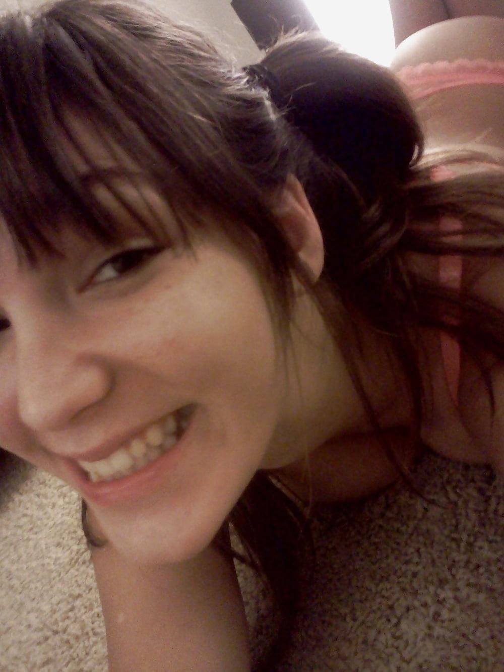Hot brunette college girl-9859
