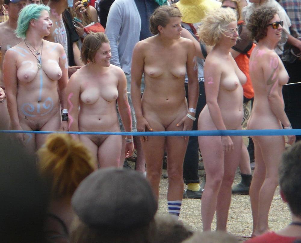 Group pics of naked women flashing, crazy half naked white girls