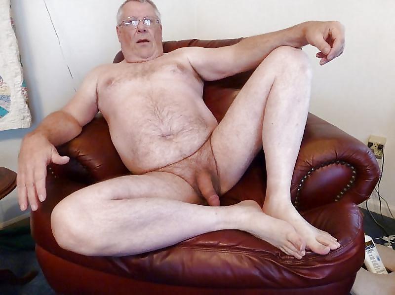 Naked Old Man Grandpa