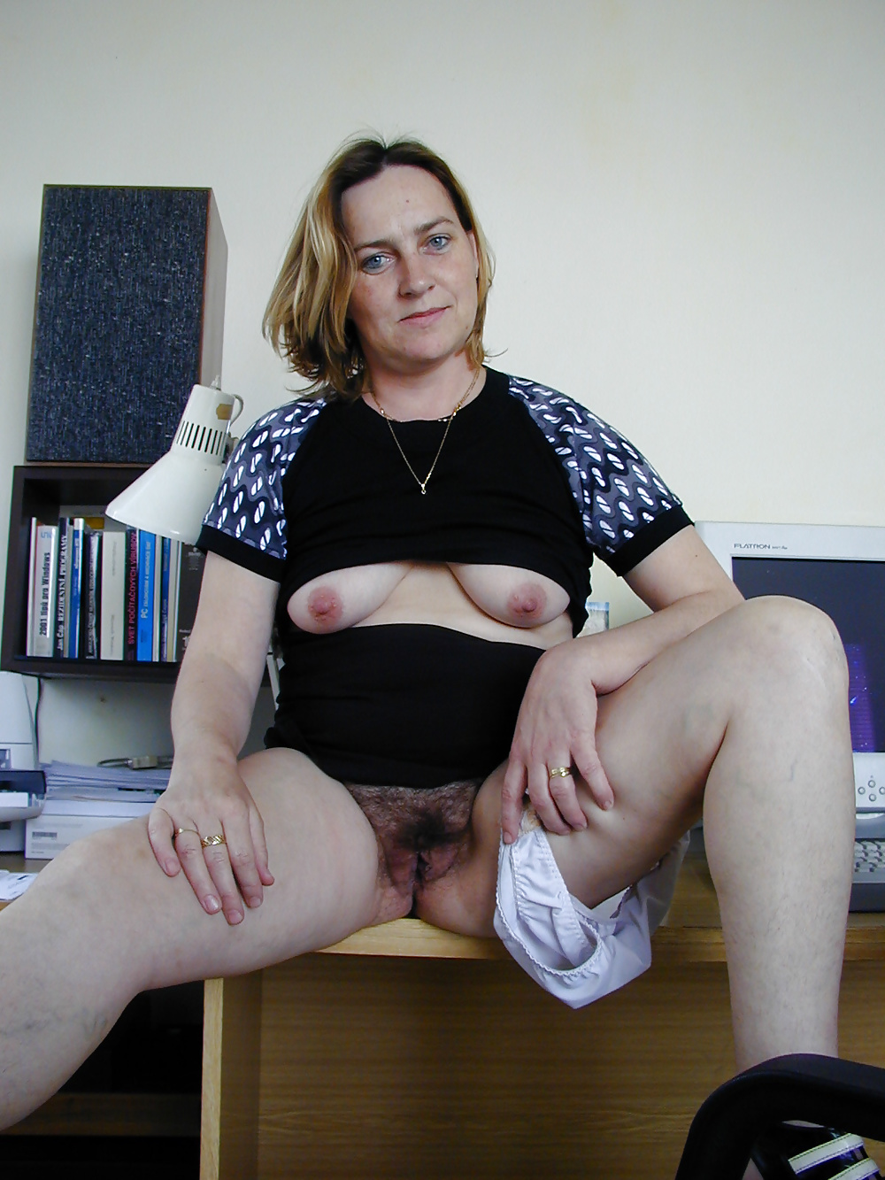 Homemade hairy mature