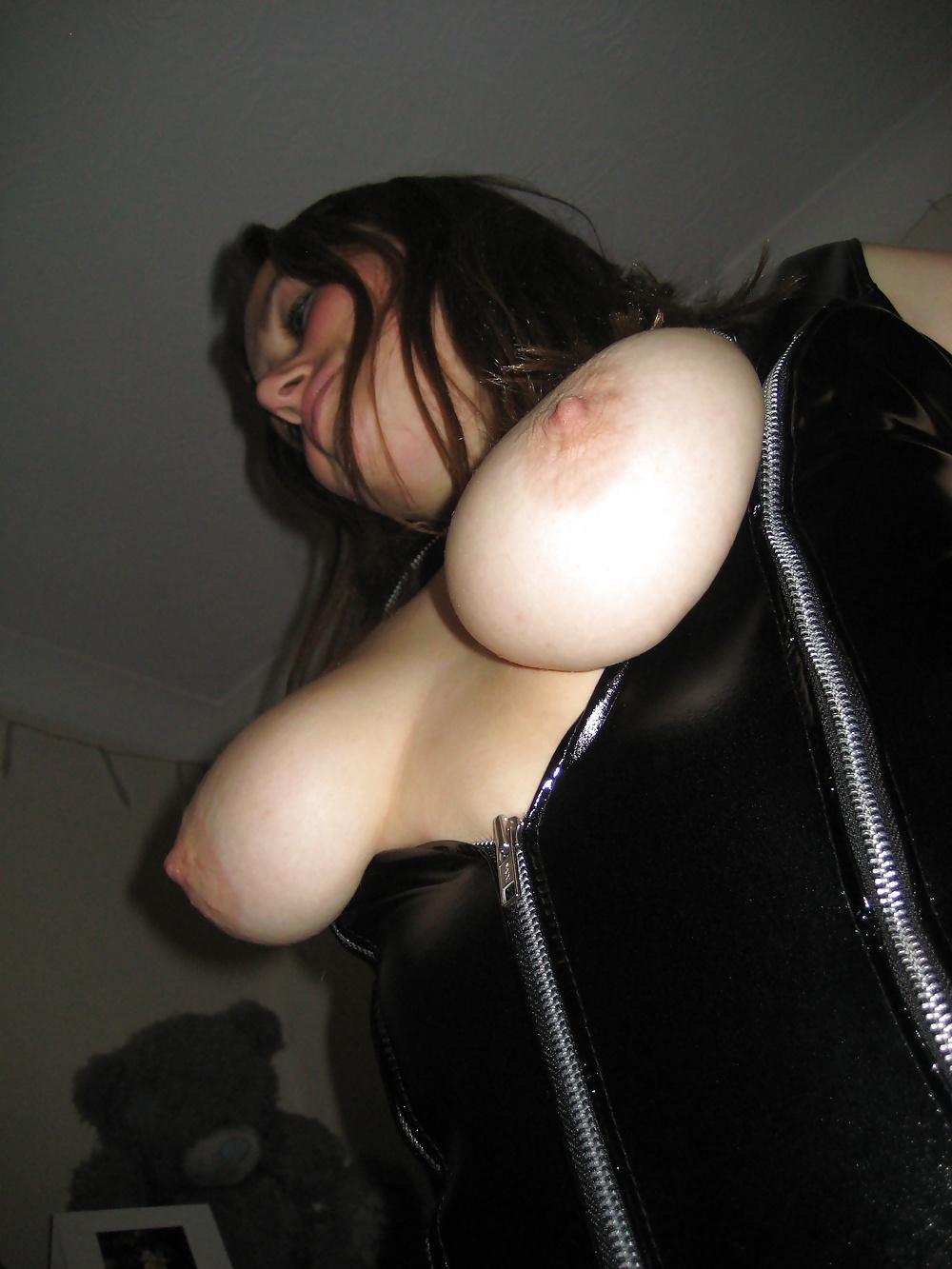 Busty girl latex