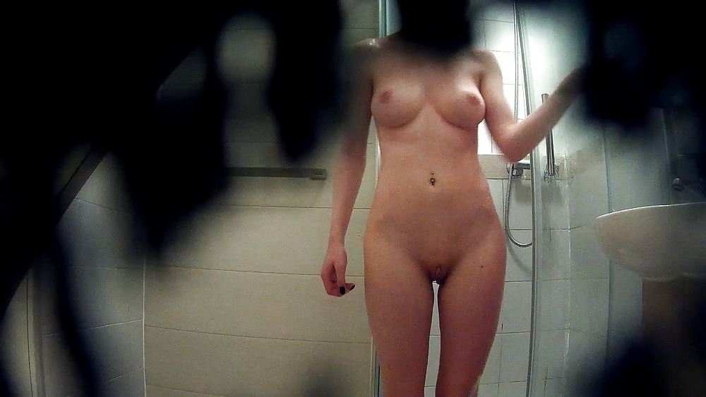 Girls in shower spy cam scenes talk and shaved nubs