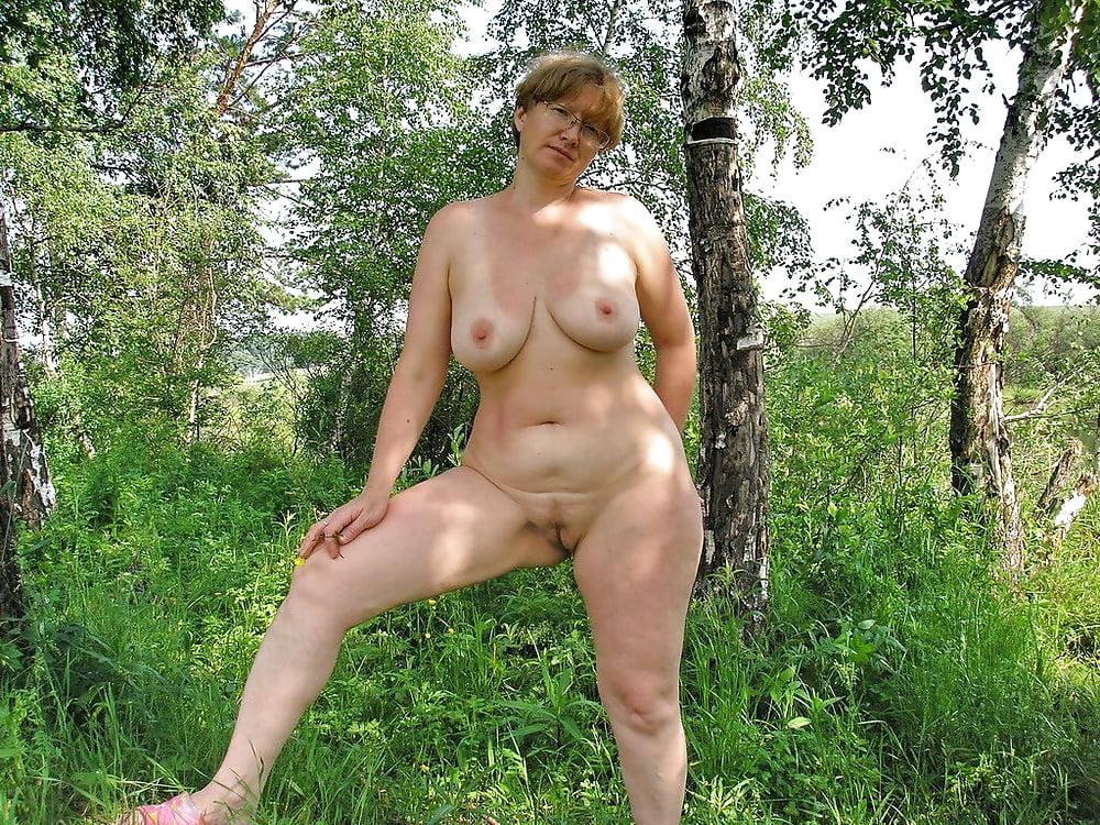 Nude beautiful mature woman