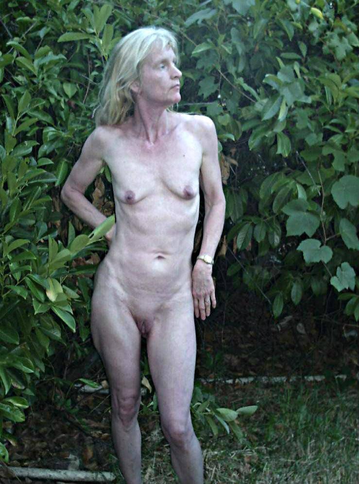 Thin nude grannies