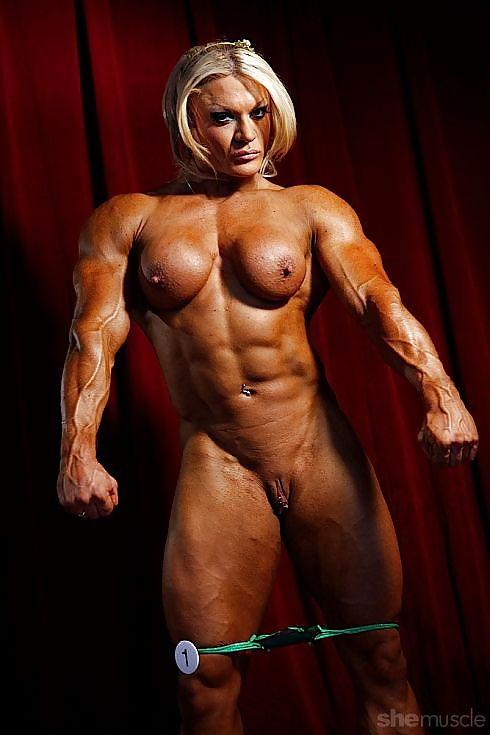 Nude female bodybuilder enlarged clit