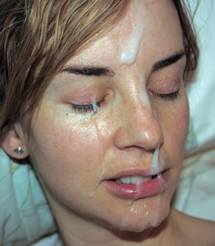Leaked cum on her face — 2