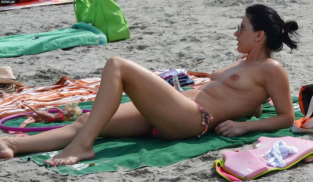 French topless beach girls — 2
