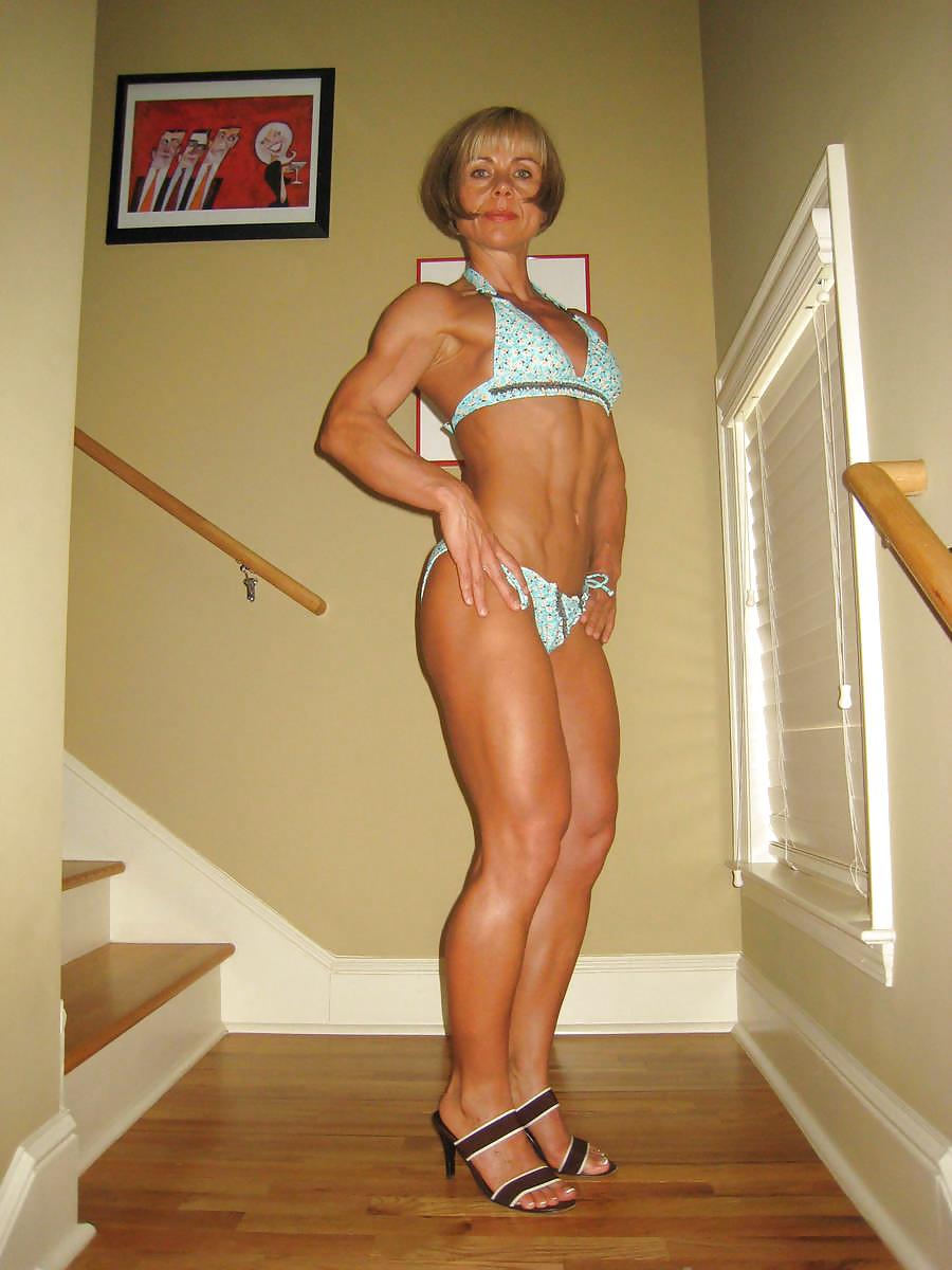 Bodybuilder Woman In Gym, Sport Lifestyle Stock Photo