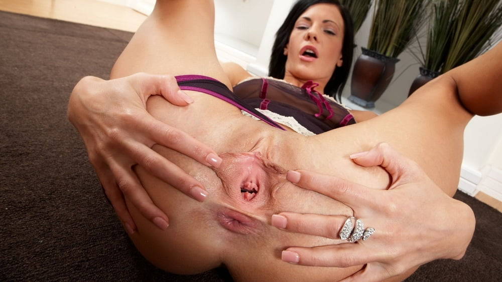 Tight Petite Girl's Pussy Stretch Open With Fat Cock