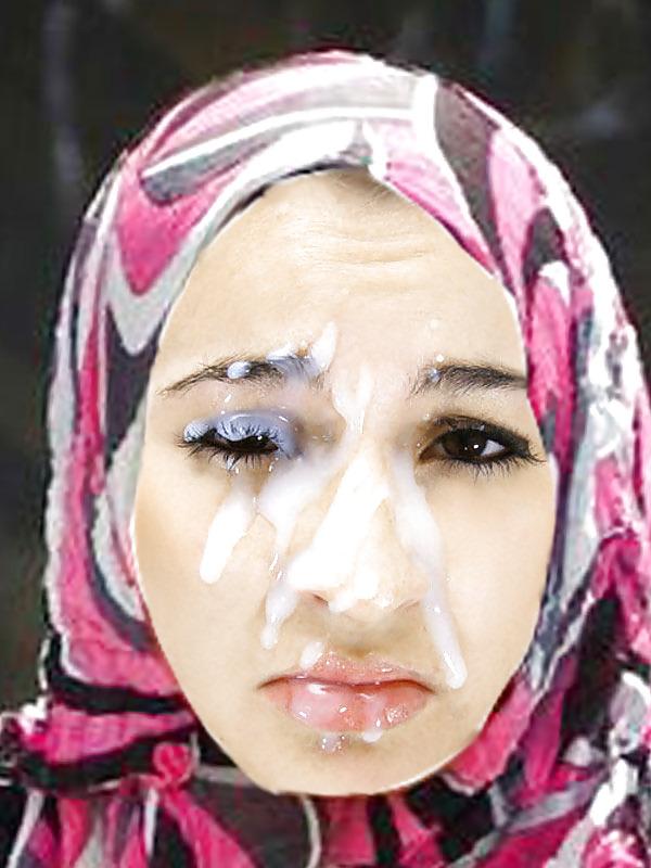 Hijab girls cumshots