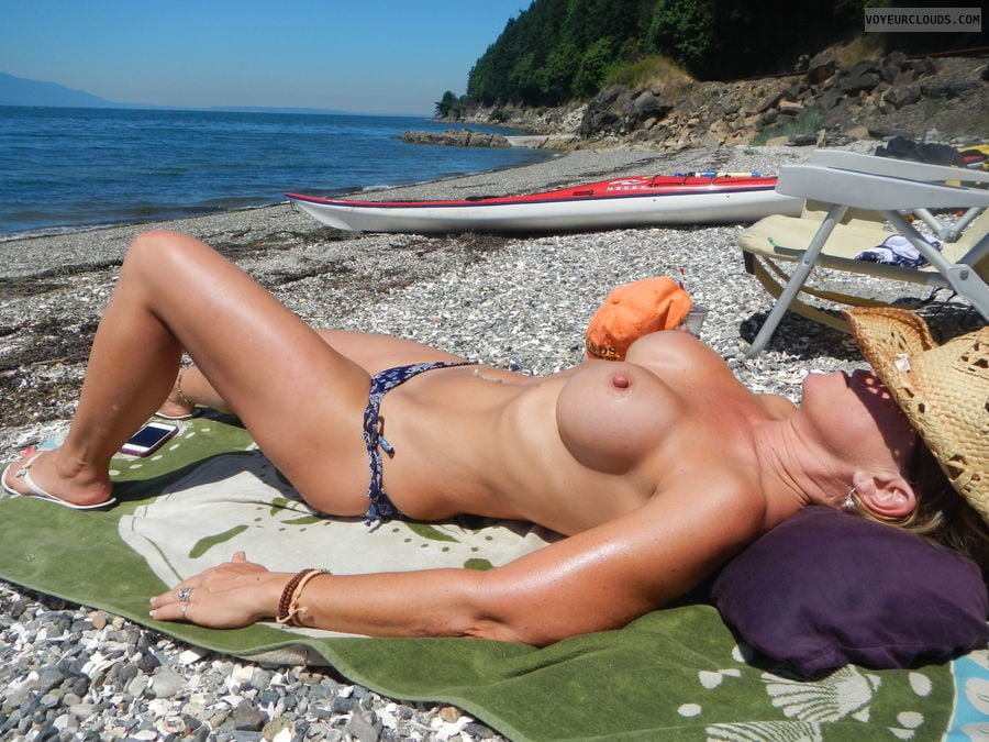 Milf With Amazing Tits Imageed Topless