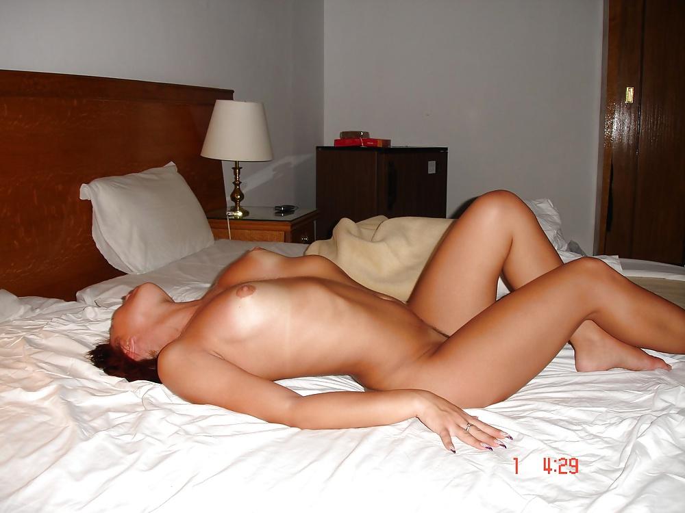 Mature Brunette Wife Naked Hotel Room Big Tits Voyeur