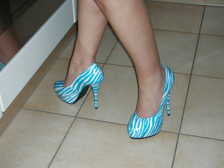 wife black white platform heels