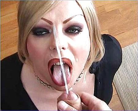 cumshot free video Crossdresser facial