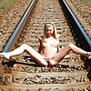 Naked at the railroad track 3