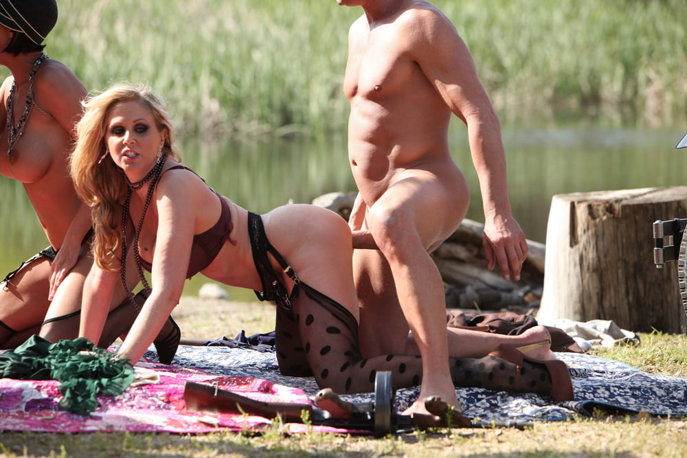 AdultMemberZone - All Star Outdoor Orgy - 43 Pics