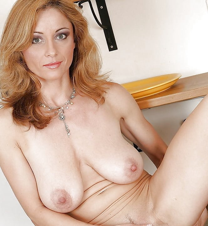 Hot blonde cougar with saggy boobs