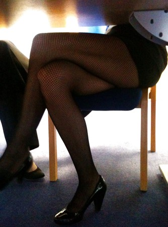 Colleague upskirt