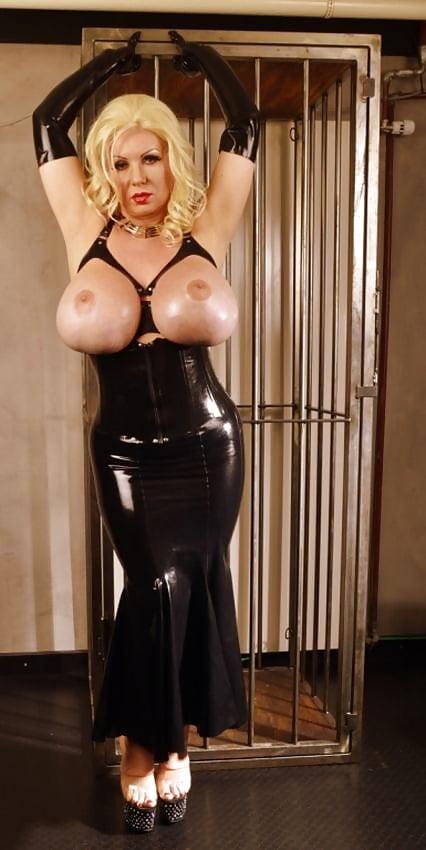 Huge tits in latex bdsm