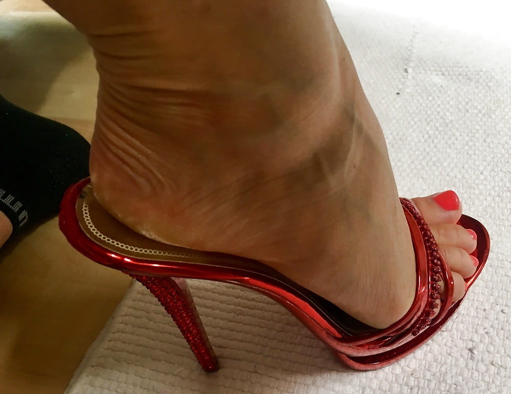 High heel footjob porn