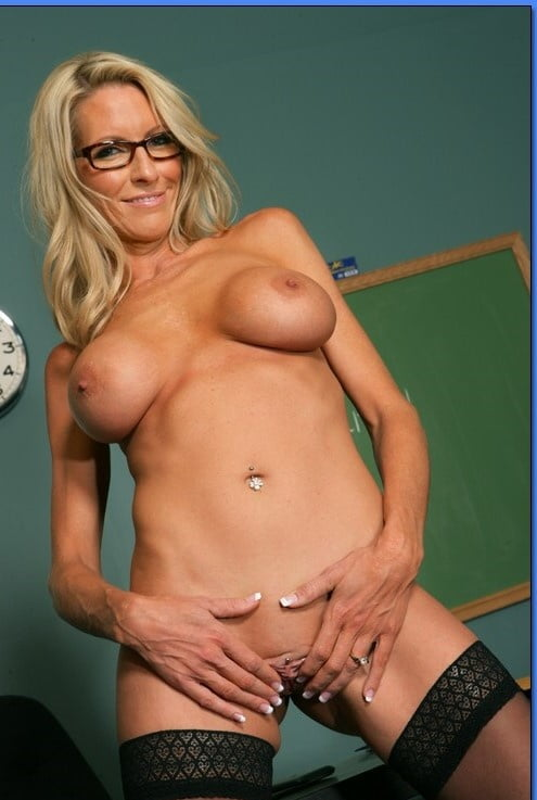 Sexy teacher getting naked