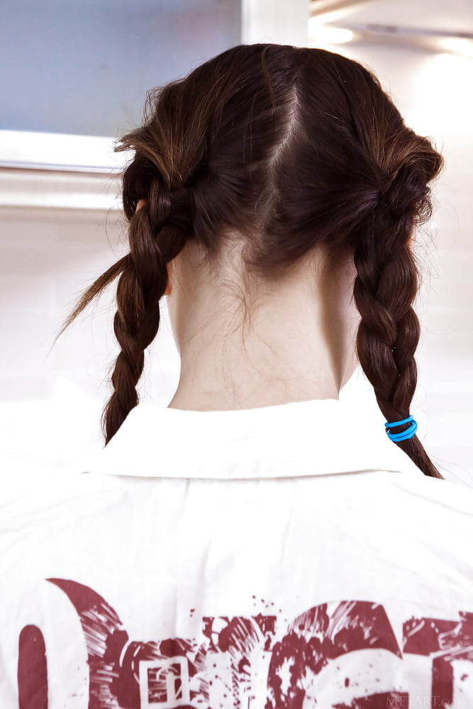 Little girl braids to the side with beads-2561