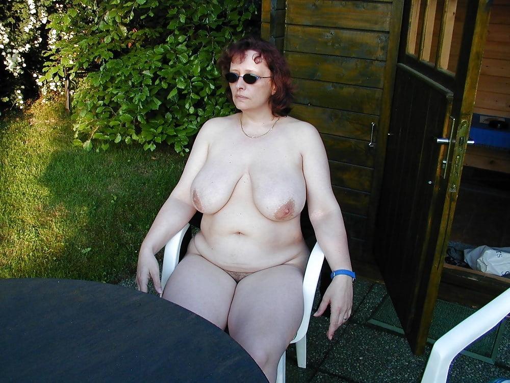 Naked mom in the garden larue