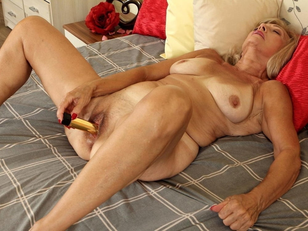 Older woman solo masturbation