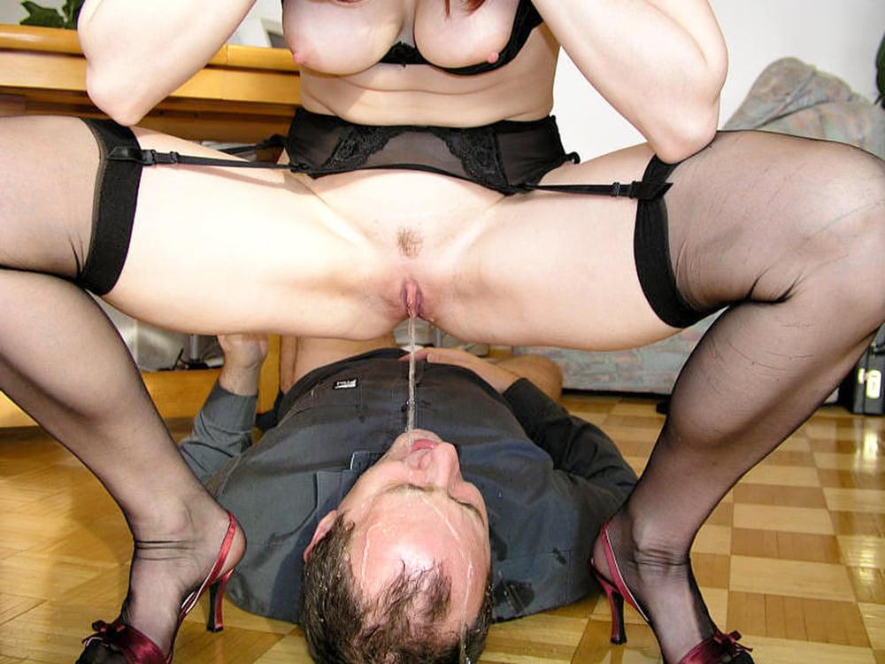 Women piss on men - 10 Pics