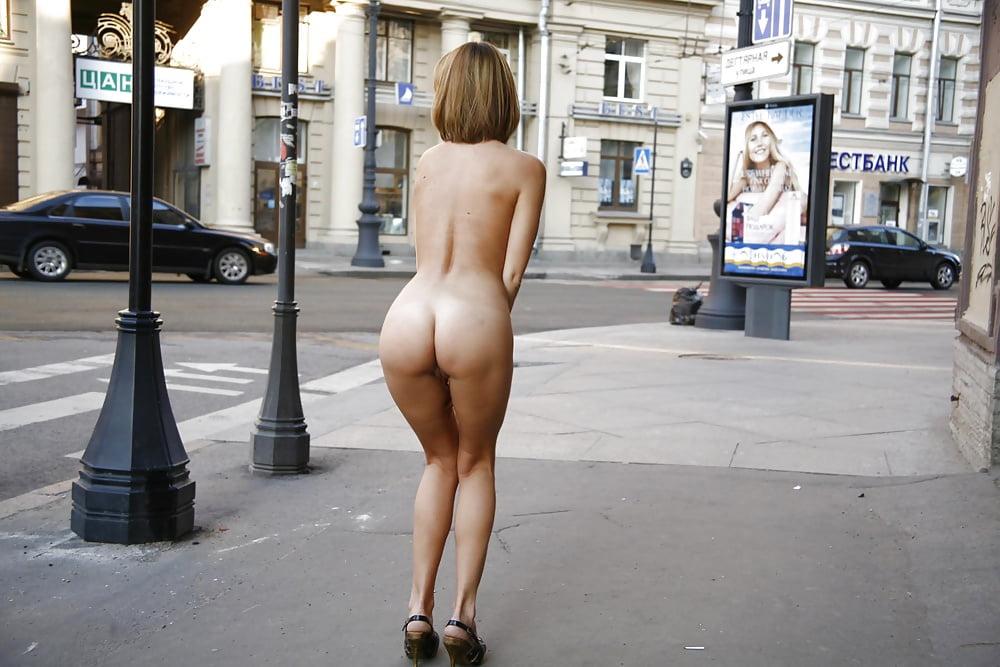 Busty blonde regina nude in public