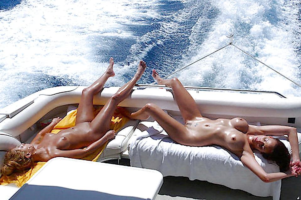 Adult boating naked
