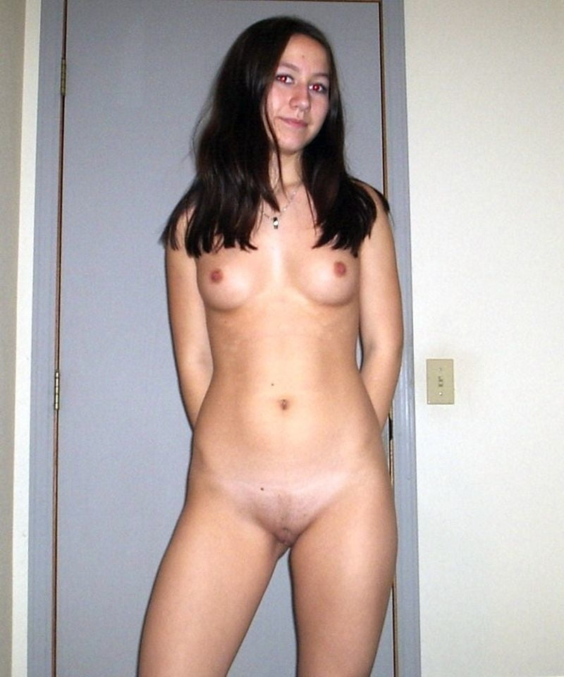 Hairy amateur naked girl standing
