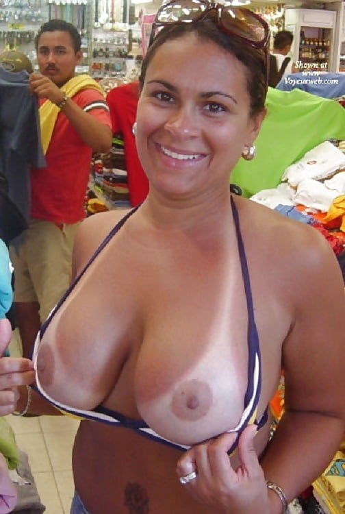 Mature nude tan lines